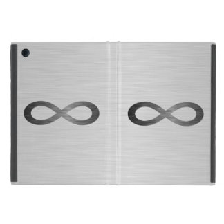Infinity Symbol On Brushed Metal Texture Case For iPad Mini