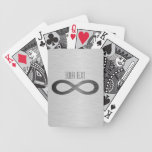 Infinity Symbol On Brushed Metal Texture Bicycle Playing Cards