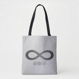 Infinity Symbol On Brushed Metal Texture Tote Bag