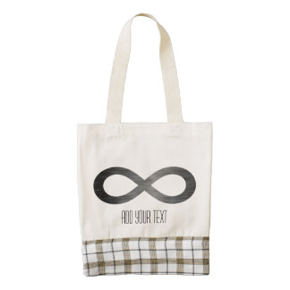 Infinity Symbol On Brushed Metal Texture Zazzle HEART Tote Bag