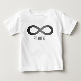 Infinity Symbol On Faux Metal Texture by STaylor Baby T-Shirt