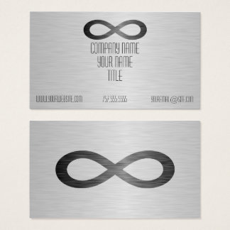 Infinity Symbol On Faux Metal Texture by STaylor Business Card