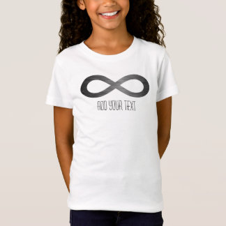 Infinity Symbol On Faux Metal Texture by STaylor T-Shirt