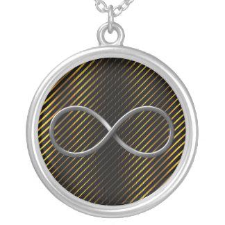 Infinity Symbol Round Pendant Necklace