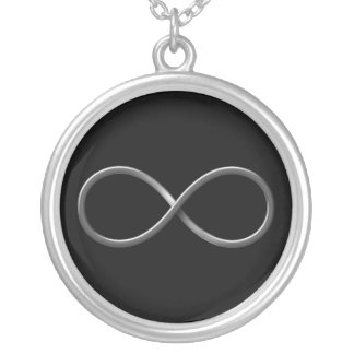 Infinity Symbol   Science Rules Round Pendant Necklace