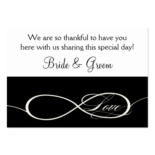 Infinity Symbol Sign Infinite Love Favor gift Tags Business Cards