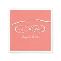 Infinity Symbol Sign Infinite Love Wedding Coral Paper Napkin