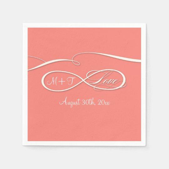 Infinity Symbol Sign Infinite Love Wedding C Paper Napkin