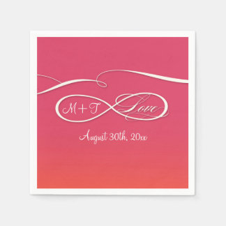 Infinity Symbol Sign Infinite Love Wedding Ombre Paper Napkin