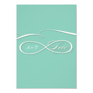 Infinity Symbol Sign Infinite Love Wedding Set Card
