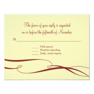Infinity Symbol Sign Infinite Love Wedding Set 4.25x5.5 Paper Invitation Card