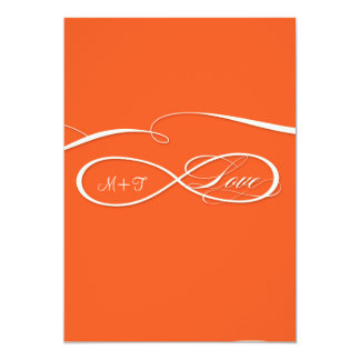 Infinity Symbol Sign Infinite Love Wedding Set Personalized Announcement