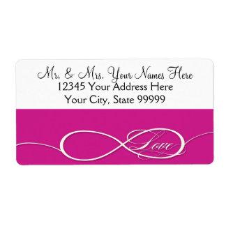 Infinity Symbol Sign Infinite Love Wedding Set Label