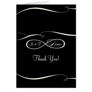 Infinity Symbol Sign Infinite Love Wedding Thanks Greeting Card