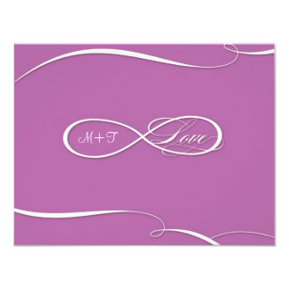 Infinity Symbol Sign Infinite Love Weddings RSVP Personalized Announcements