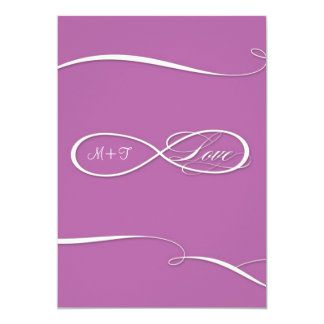 Infinity Symbol Sign Infinite Love Weddings Scroll Personalized Announcement