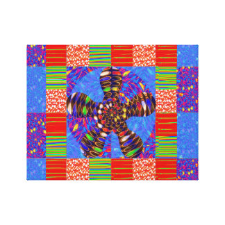 INFINITY Symbol square Colorful Cheerful GIFTS FUN Canvas Print