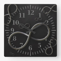 Infinity Symbol Wall Clock