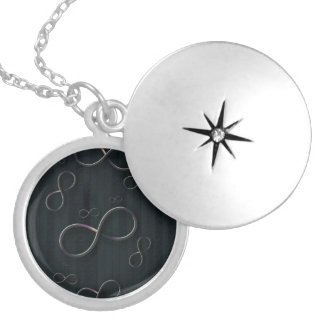 Infinity Symbols on striped background Lockets
