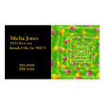 Infinity Wreath Yellow & Pink Tulips Double-Sided Standard Business Cards (Pack Of 100)