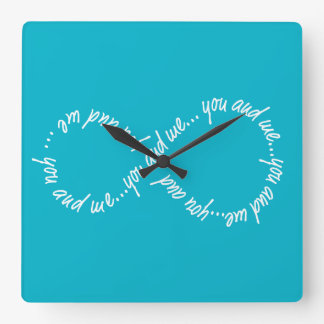 Infinity You and Me Your Custom Square Wall Clock