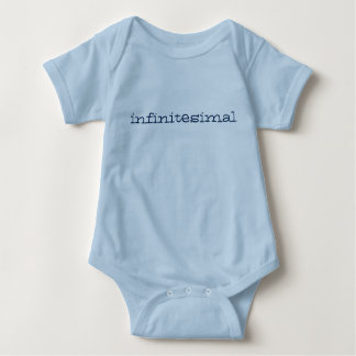 infintesimally tiny baby romper - blue