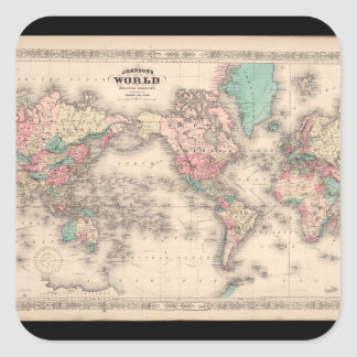 Infirm World Map 27 Square Sticker