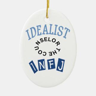INFJ Idealist Personality Ceramic Ornament