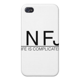INFJ Life is complicated iPhone 4 Covers