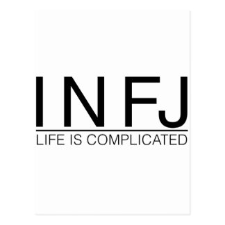 INFJ Life is complicated Postcard