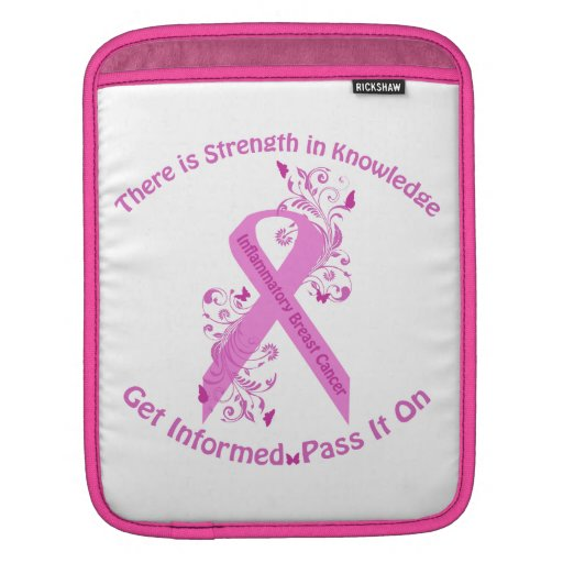 Inflammatory Breast Cancer Awareness Sleeves For iPads