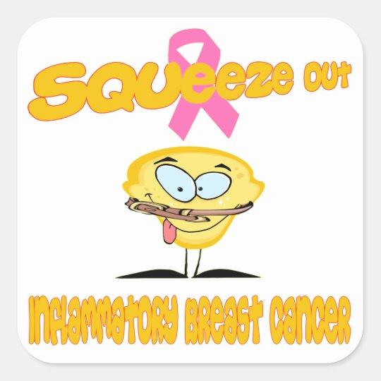 Inflammatory Breast Cancer Square Sticker