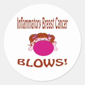 Inflammatory Breast Cancer Classic Round Sticker