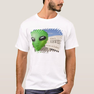 Inflatable alien with Welcome to Roswell sign in T-Shirt