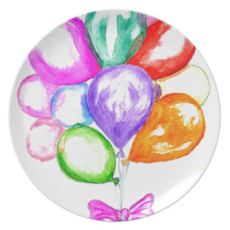 Inflatable Colorful Balloons Plate