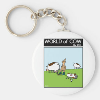 Inflatable Cows Keychain