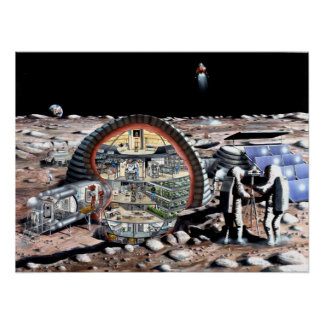 Inflatable Habitat For The Moon Poster