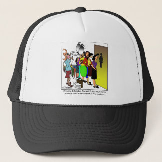 Inflatable Pocket Potty Trucker Hat