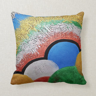Inflated balloons throw pillow