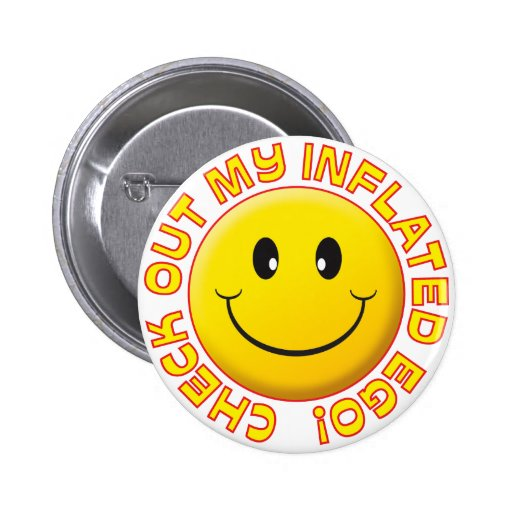 Inflated Ego Smiley Badges