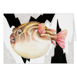 Inflated Pufferfish Greeting Card