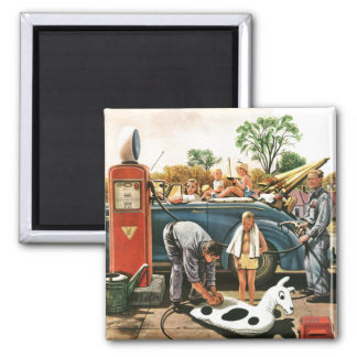 Inflating Beach Toy 2 Inch Square Magnet