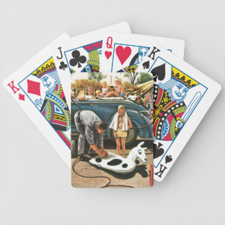 Inflating Beach Toy Bicycle Playing Cards