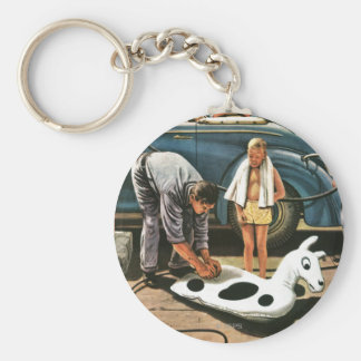 Inflating Beach Toy Keychain