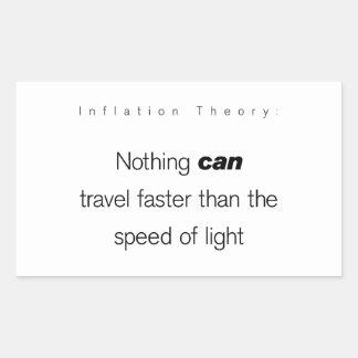 Inflation Theory Rectangular Sticker