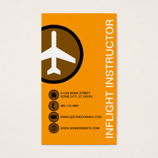INFLIGHT INSTRUCTOR bubbles Business Card