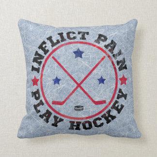 Inflija el hockey del juego del dolor cojines