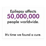Influencias de la epilepsia, 50.000.000, gente por postales