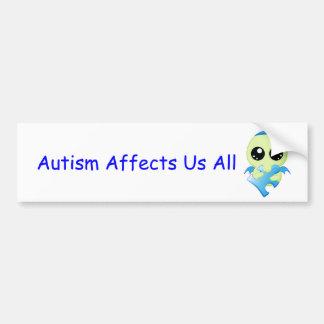 Influencias del autismo - bebé Cthulhu Etiqueta De Parachoque