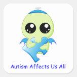 Influencias del autismo - bebé Cthulhu Etiquetas